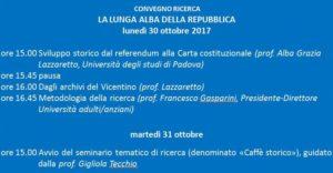 """Convegno: """"La lunga alba della Repubblica"""""""